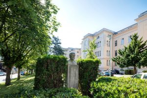 Denkmal vor Semmelweis Frauenklinik